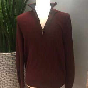 Brooks Brothers Fine Merino Wool 1/2 Zip Sweater